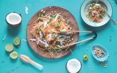 De caribische keuken: groene-papajasalade