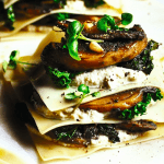 Rebels lekker: open lasagne met gebakken paddestoelen en cashewricotta