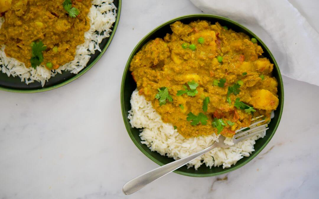 Pulled Oats keema curry