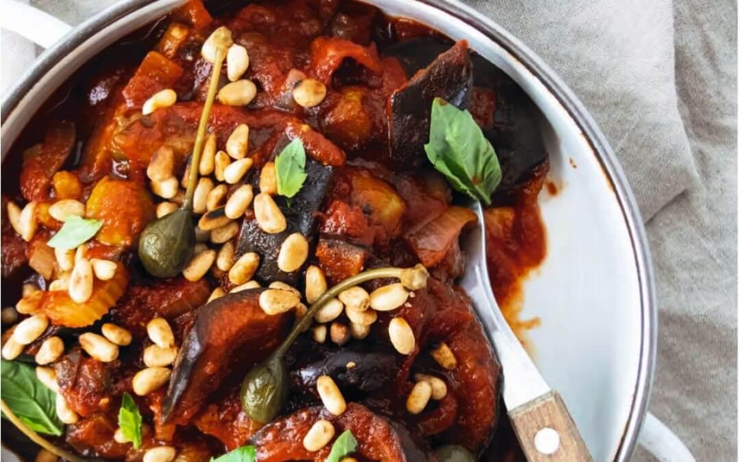 Veganista: Siciliaanse auberginestoofschotel