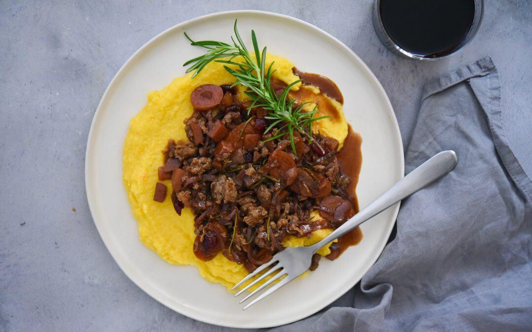 Pulled Oats stoofschotel en polenta