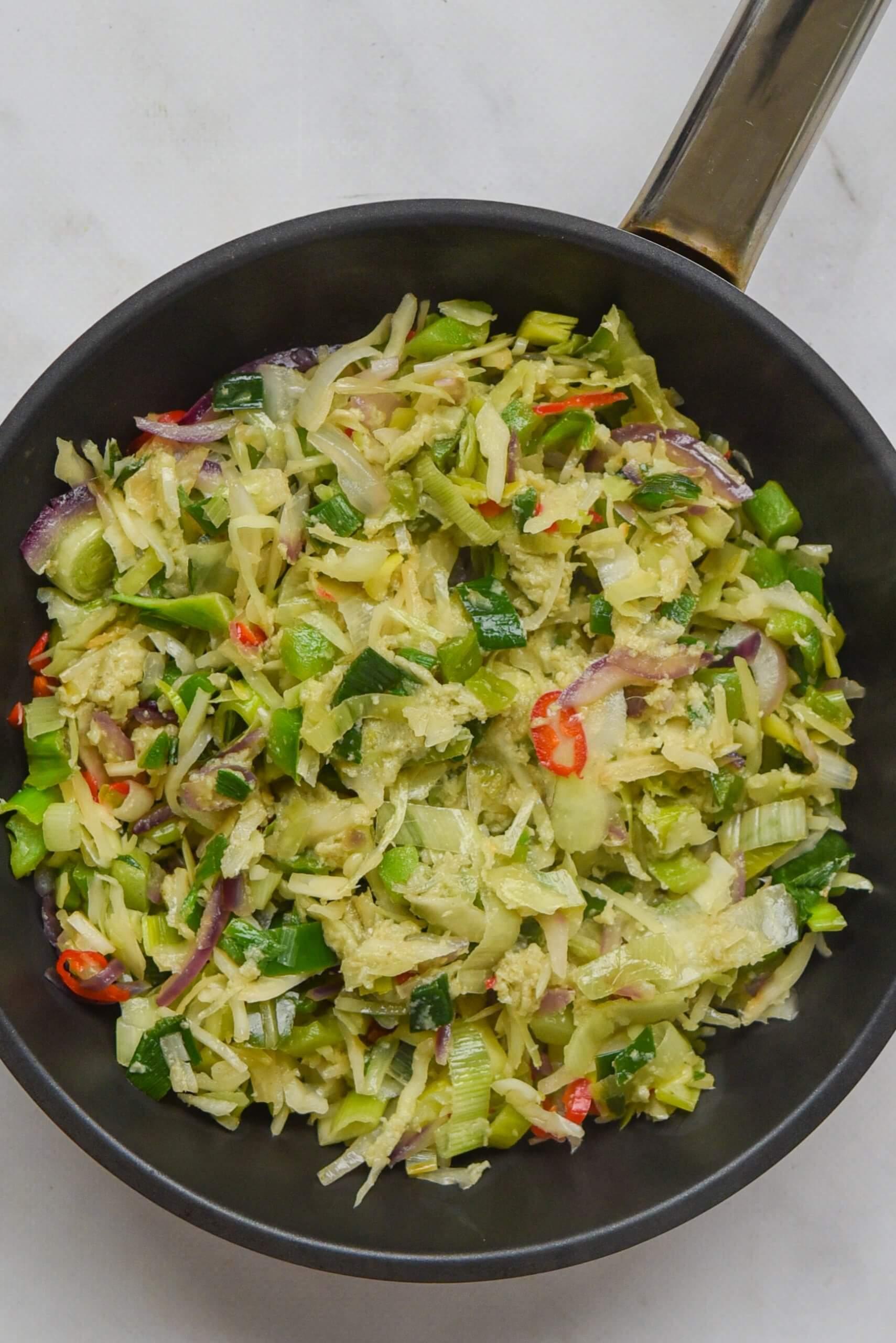 groentehack wokgroente - staand