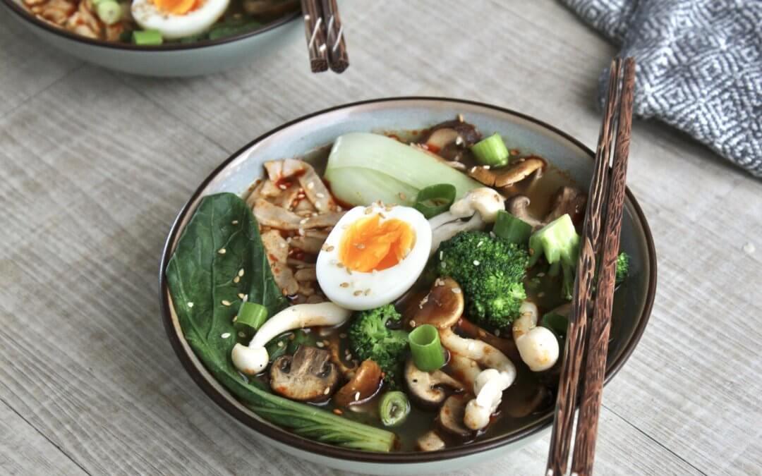 Japanse noedelsoep met zelfgemaakte sobanoedels