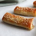 Börek met tofu, spinazie en champignon (lactosevrij)
