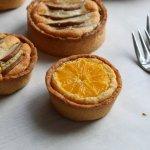 Vegetarisch paasmenu: frangipane tartelette met peer en mineola
