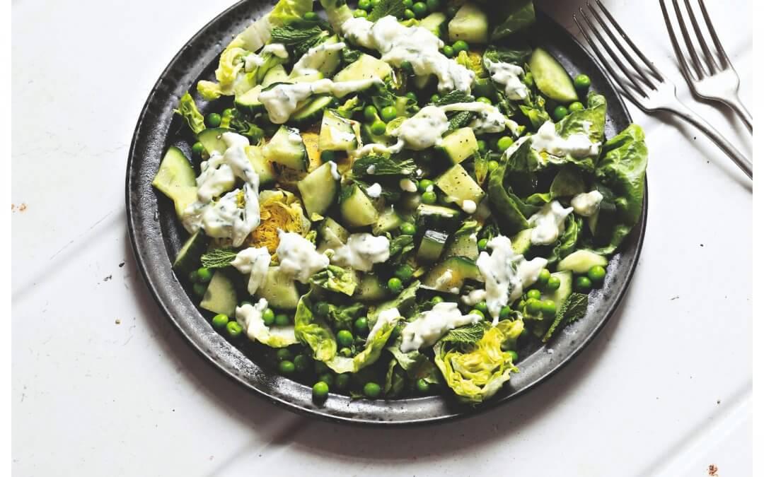 Eten als de beste!: Romainesla, komkommer, erwtjes & munt