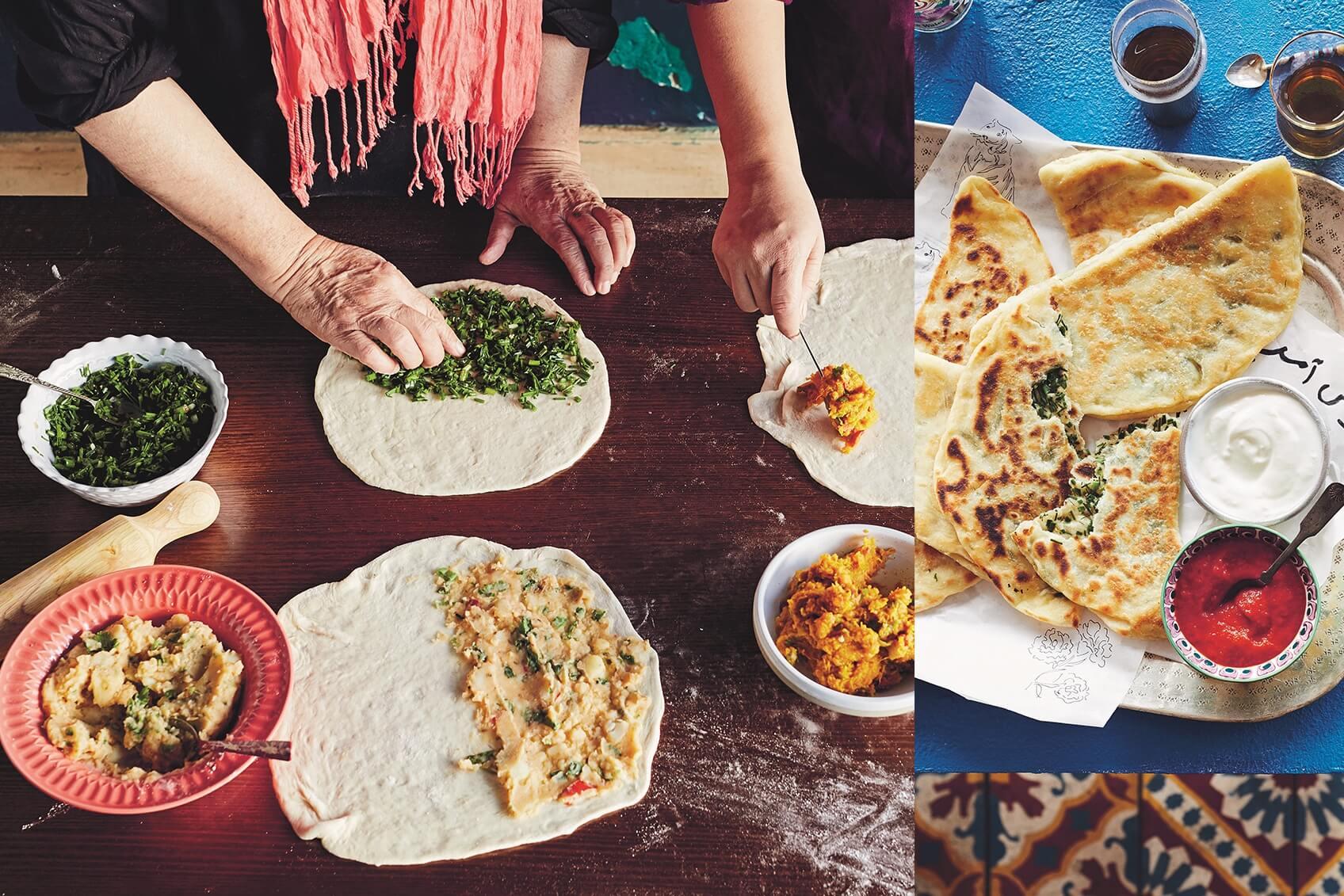 Parwana: 3x gevuld naanbrood