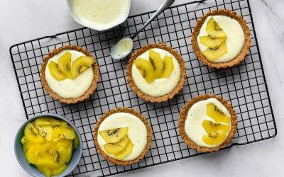Mini kiwi-lime breakfast cups met haverkorst