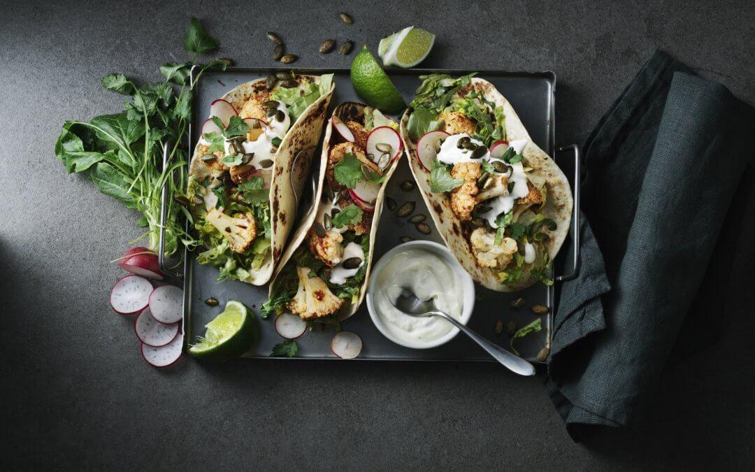 Veggie taco's met geroosterde bloemkool