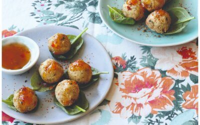 Asian Green: Geurige citroengras-tofu-kikkererwtballetjes