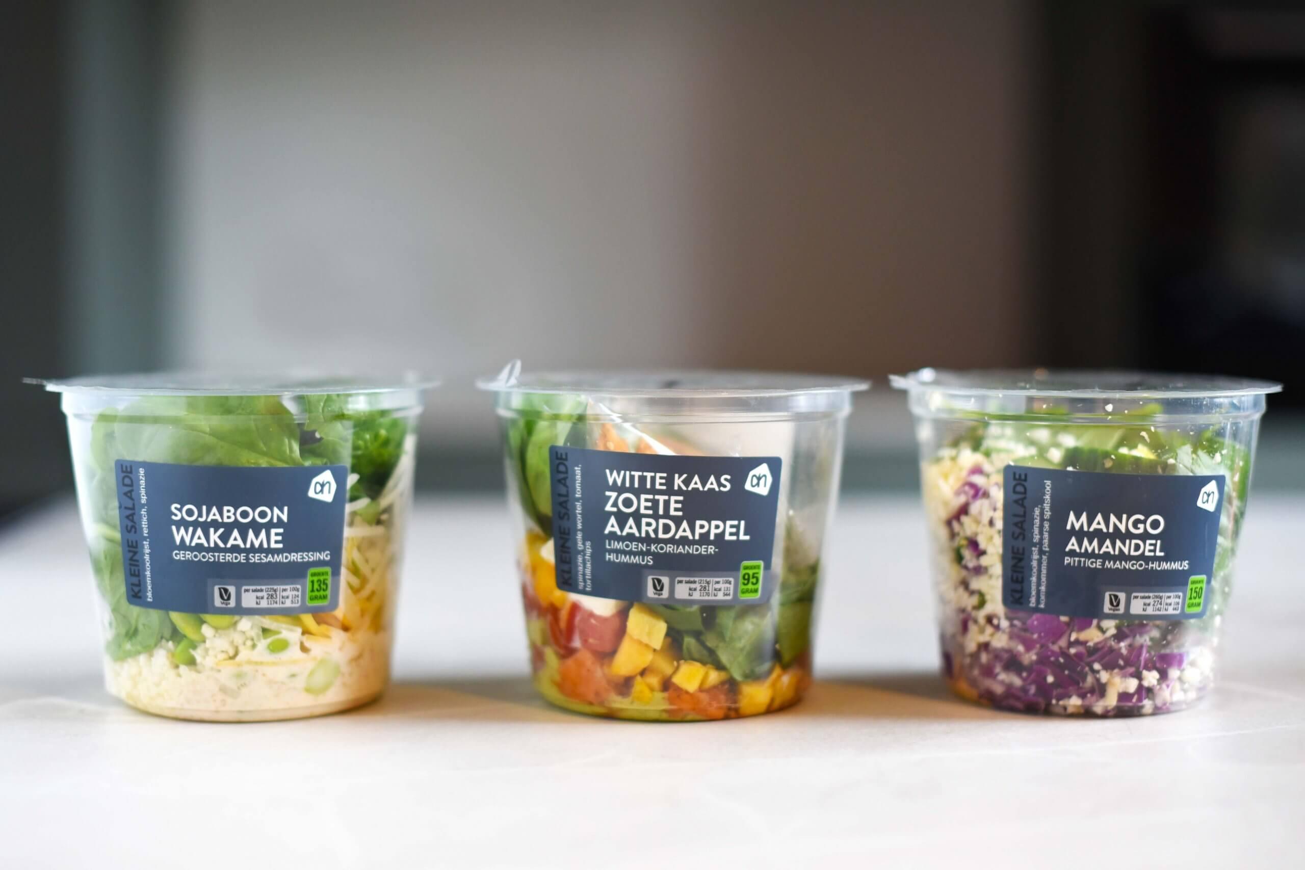 Saladetest: Nieuwe kleurrijke, plant-based salades van de Albert Heijn